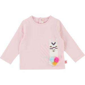 BILLIEBLUSH Girl's Pink Long Sleeved Cotton Top