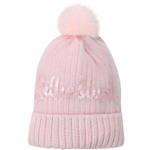 Billieblush Pale Pink Pom-Pom Hat