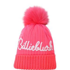 Billieblush Neon Pink Pom-Pom Hat