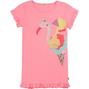 Billieblush Girls Pink Polycotton Flamingo Dress