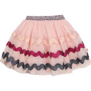 Billieblush Girls Pink Ribbon Trimmed Tulle Skirt