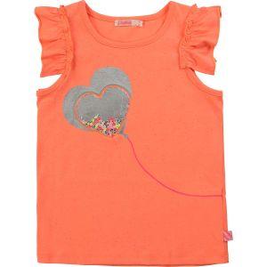 Billieblush Orange Heart Balloon Cotton T-Shirt