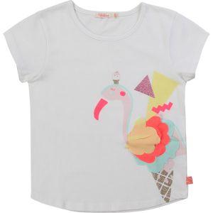 Billieblush White Cotton Flamingo T-Shirt