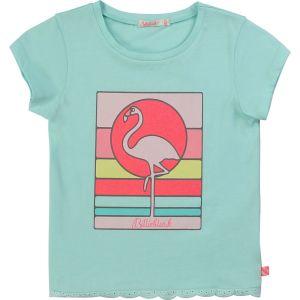 Billieblush Blue Cotton Flamingo T-Shirt