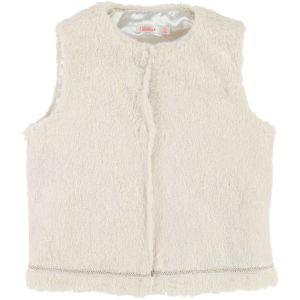 BILLIEBLUSH Girl's Ivory Faux Fur Gilet
