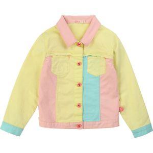 Billieblush Pink & Yellow Cotton Jacket