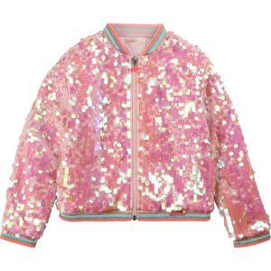 Billieblush Pink Sequin Bomber Jacket