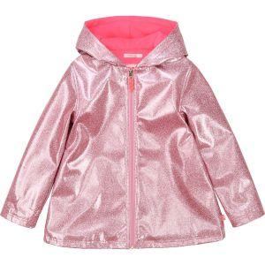 Billieblush Older Girls Pink Glitter Raincoat
