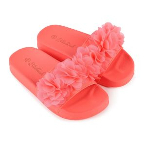 Billieblush Girls Bright Pink Flower Sliders