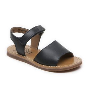 Pom D Api Girl's Plage Stitch Easy Navy Sandal