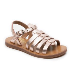 Pom D'Api Plagette Strap Rose Gold Sandals