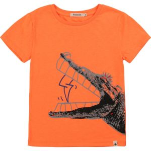 Billybandit Orange Cotton Crocodile T-Shirt