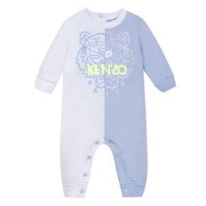Kenzo Kids Blue & White Tiger Babygrow