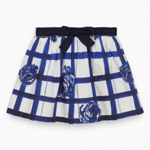 Tartine et Chocolat White Checked Skirt