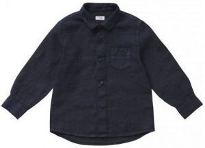 IL Gufo Boy's Navy Blue Linen Shirt
