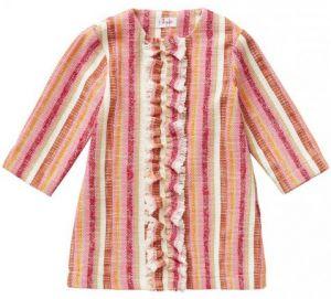 IL Gufo Girl's Multi Coloured Woven Overcoat