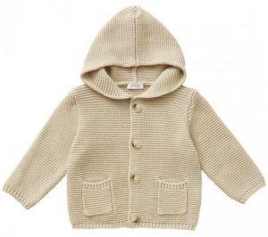 IL Gufo Boy's Beige Hooded Cardigan