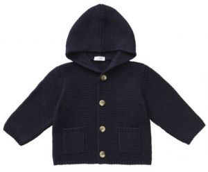 IL Gufo Boy's Navy Blue Hooded Cardigan