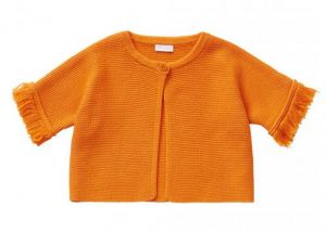 IL Gufo Girl's Orange Cardigan