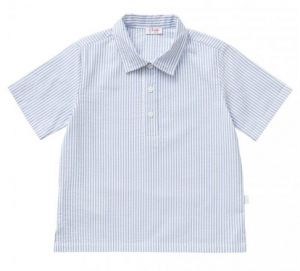 IL Gufo Boy's Blue Seersucker Polo Shirt