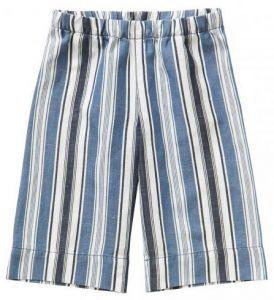 IL Gufo Girl's Maxi Striped Cotton And Linen Culottes