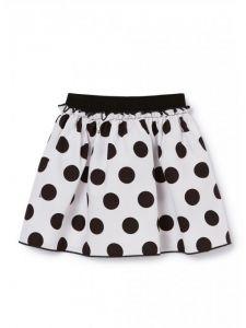 Il Gufo Black and White Large Polka Dot Skirt