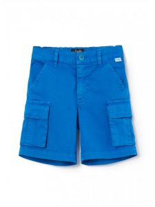 Il Gufo Boys Royal Blue Cargo Shorts