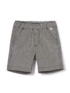 Il Gufo Boys Black and White Checked Bermuda Shorts