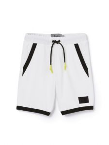 Il Gufo Boys White and Black Shorts