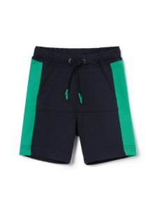 Il Gufo Boys Navy and Emerald Shorts