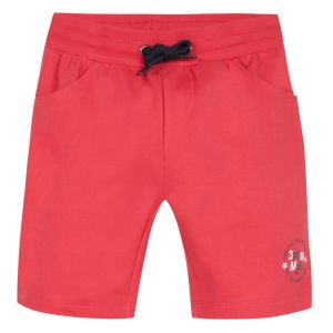 3Pommes Boys Red Cotton Jersey Shorts