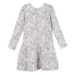 LILI GAUFRETTE Black & White Jersey Dress