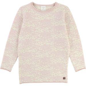 CARRÉMENT BEAU Pink And Ivory Jacquard Knit Dress