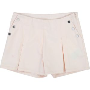 Carrément Beau Girls Pink Cotton Pleated Shorts