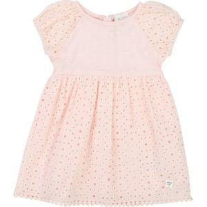 Carrément Beau Baby Girls Pink Cotton Dress