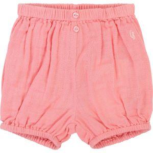 Carrément Beau Baby Girls Deep Pink Cotton Shorts