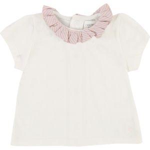 Carrément Beau Baby Girl's Cream T-Shirt