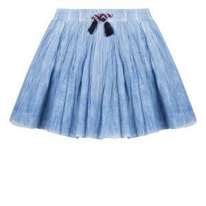 3Pommes Blue Cotton Lined Skirt