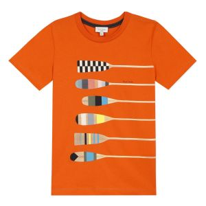 Paul Smith Junior Boys Orange 'Acker' Cotton T-Shirt