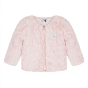 3Pommes Baby Girls Pink Faux Fur Jacket